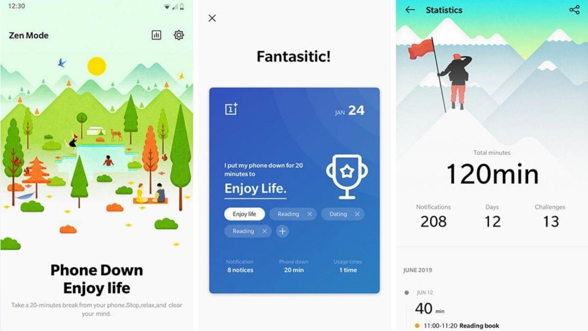 Modo Zen OnePlus