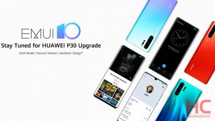 huawei p30 pro android 10 beta