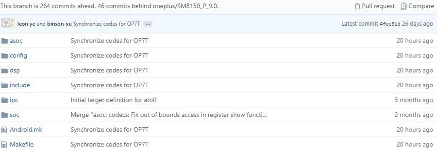 oneplus 7t modding codice sorgente kernel