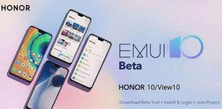 honra 10 vista de honra 10 emui 10 beta