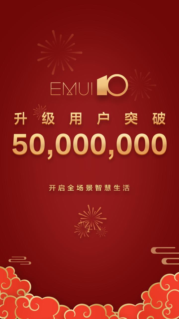 huawei emui 10 50 milhões
