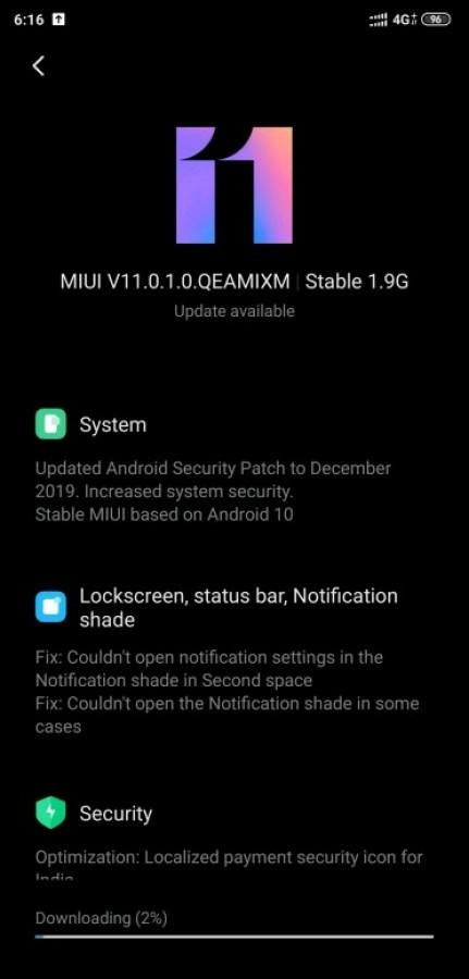 xiaomi mi 8 miui 11 global stabile android 10