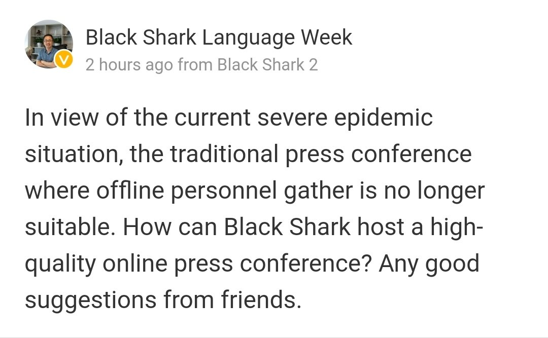 black shark 3 evento