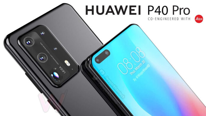 huawei p40 pro video render