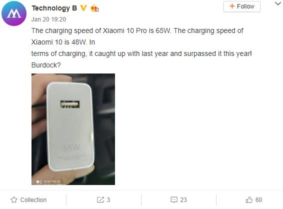 ładowarka Xiaomi mi 10 pro