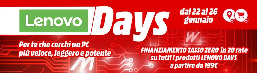 Lenovo Days MediaWorld