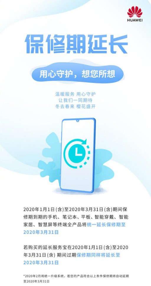 garantia huawei china coronavirus