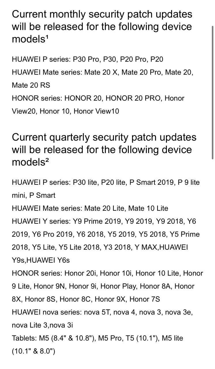 huawei mate 20 actualizaciones