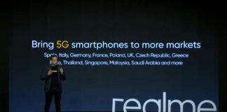 realme novos smartphones