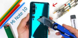 Teste de resistência Xiaomi Note Me 10