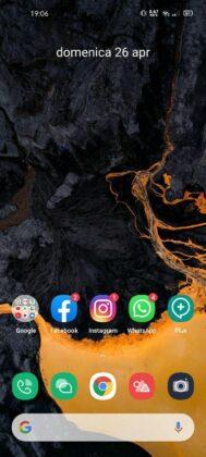 Interface utilisateur Realme