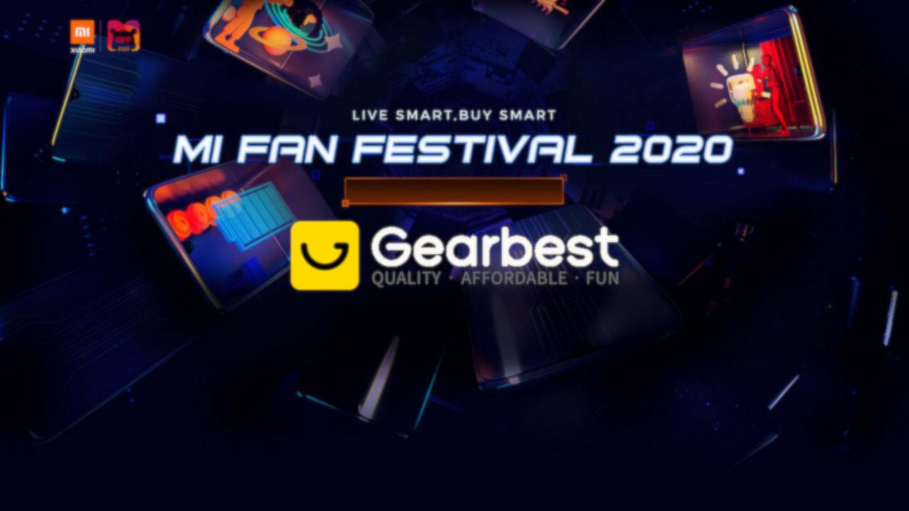 Xiaomi Mi Fan Festival no GearBest - Página Principal