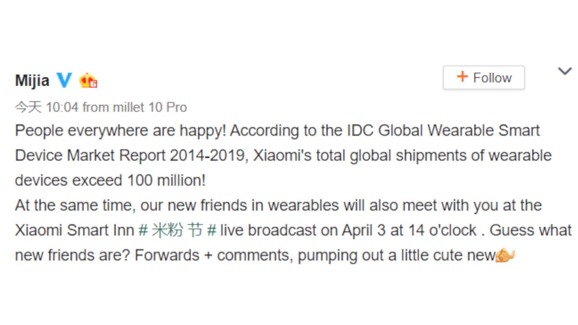 xiaomi wearable