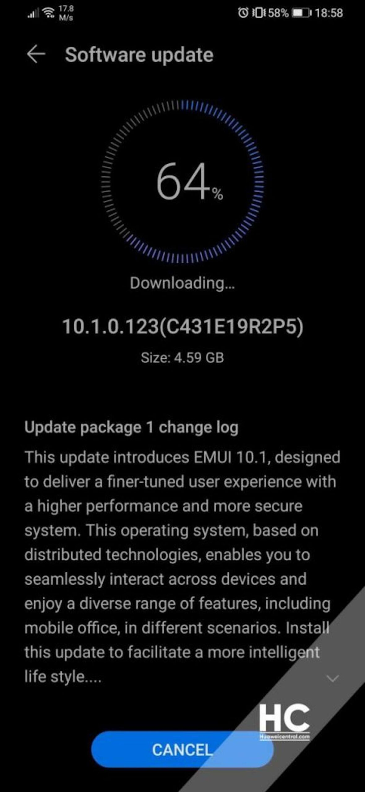 huawei p30 pro emui 10.1 stable