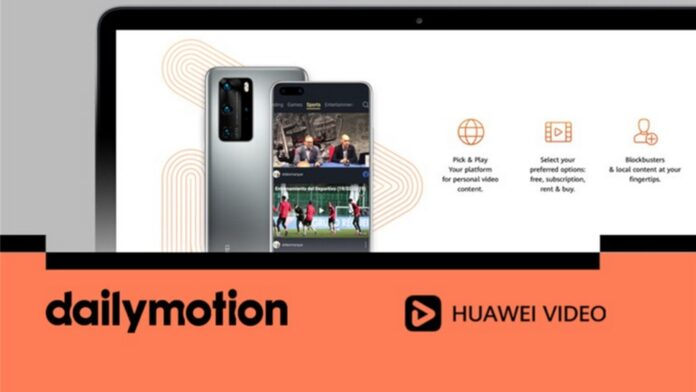 parceria huawei video dailymotion