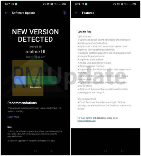 realme 5 5s beta update