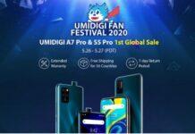 Umidigi Fan Festival S5 Pro A7 Pro Aliexpress erweiterte Garantie