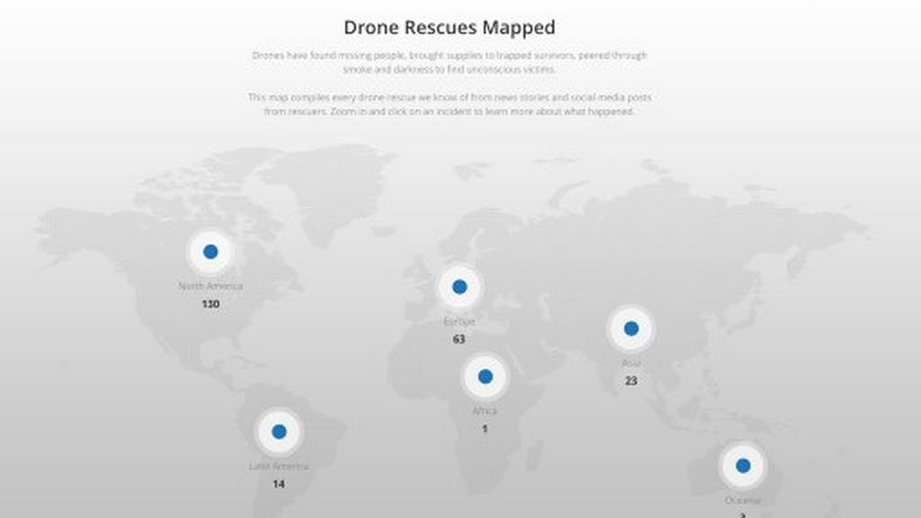 dji drone rescue map servizio tracciamento soccorso droni