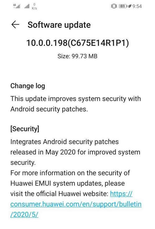 honor 8x aggiornamento patch sicurezza maggio