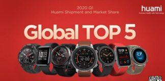huami amazfit top 5 spedizioni market share vendite