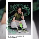 coloração oppo reno 4 pro novo pantone green glitter 2