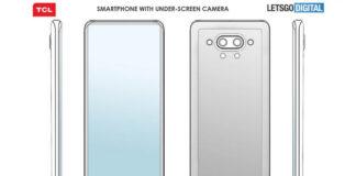 cámara de teléfono inteligente tcl bajo pantalla de patente 2