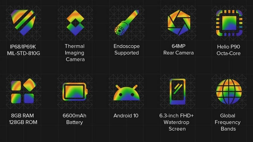 ulefone armor 9 rugged thermal camera specifications crowdfunding output price kickstarter 2