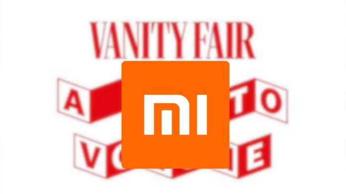 xiaomi official partner vanity fair blaring italian music event