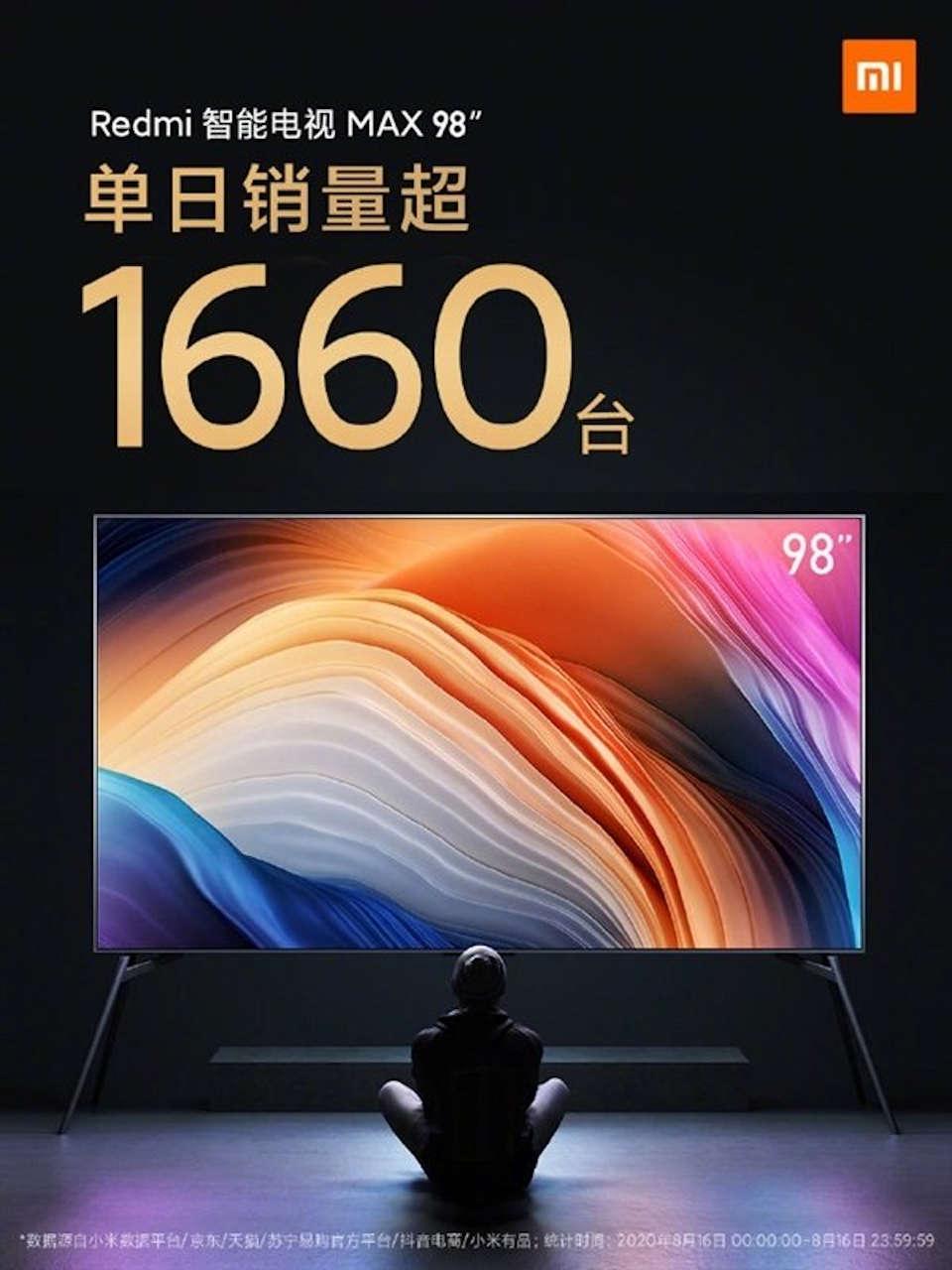 redmi smart tv max 98 vendite
