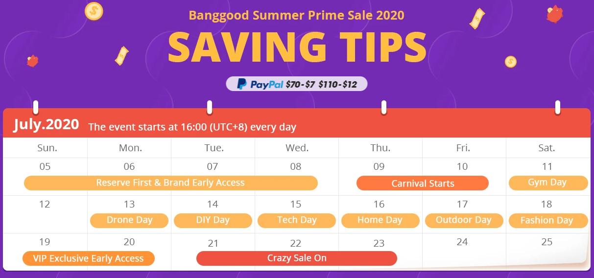 calendario banggood