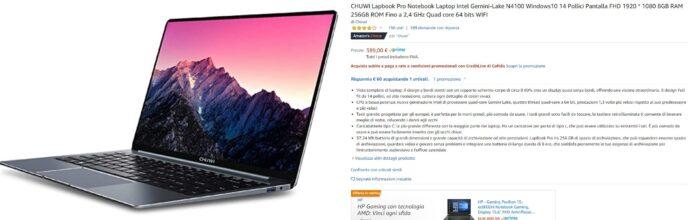 Codice sconto Chuwi LapBook Pro