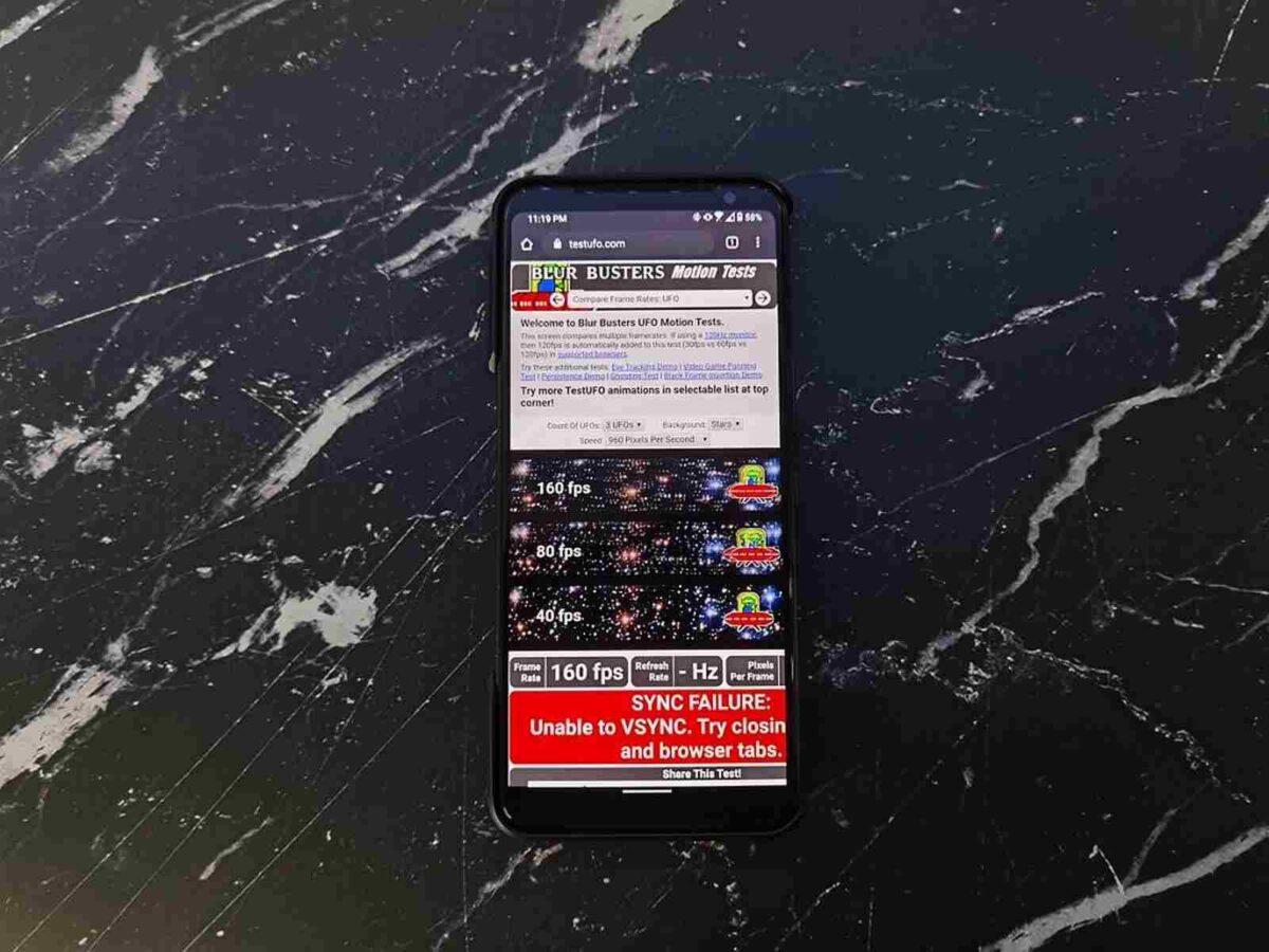 Come abilitare il refresh rate a 160 Hz su ROG Phone 3