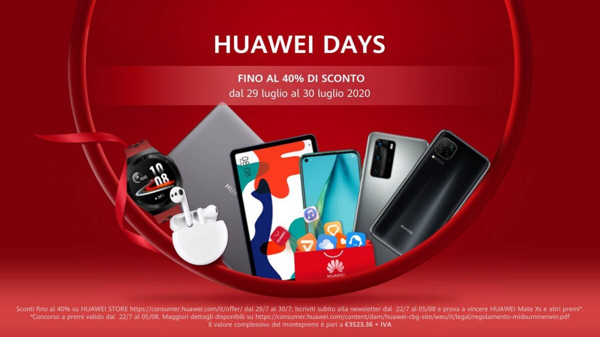 Huawei Days: continuano anche oggi le offerte imperdibili di Huawei