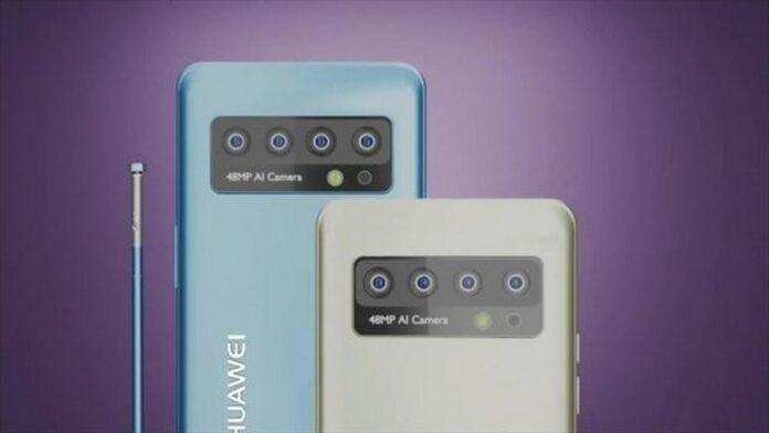huawei p50 pro conceito render design câmera caneta caneta