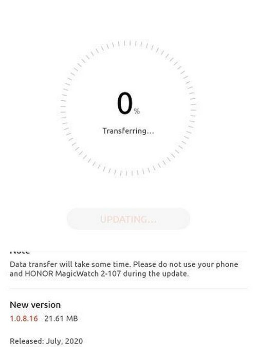 huawei watch gt 2 honor magicwatch 2 update juli 2020 3