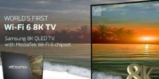 chipset mediatek s900 smart tv 8k Wi-Fi 6