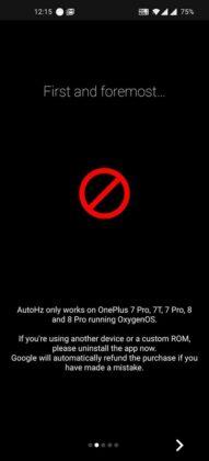 como verificar a taxa de atualização da tela com o AutoHz oneplus 8 pro