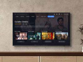 oneplus tv uy series controle remoto inteligente netflix prime video youtube 4