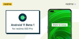 Realme X50 Pro Android 11 бета 1
