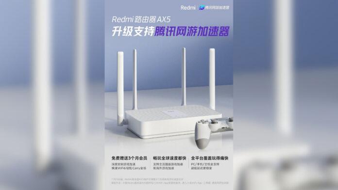 redmi ax5 router wi-fi aggiornamento gaming