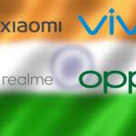 xiaomi vivo oppo realme top 5 ventas india 2
