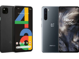 google pixel 4a oneplus nord