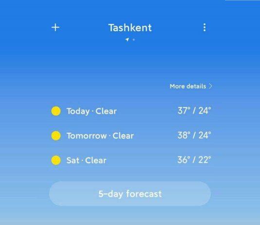 xiaomi Wetter App Update