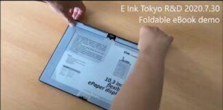 protótipo de e-ink ereader 2 dobrável xiaomi