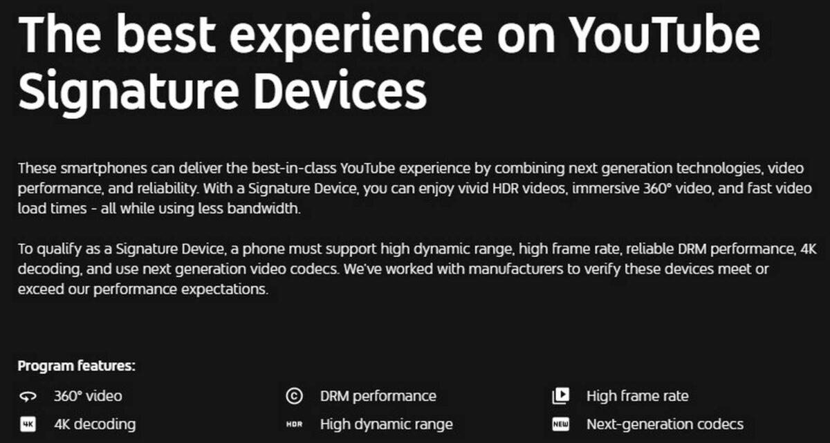 YouTube Signature Device