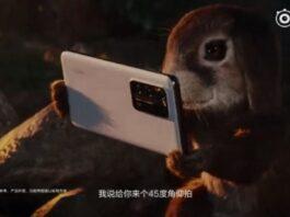 анимированная короткая камера huawei p40