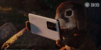 Animowany krótki aparat Huawei P40