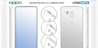 conexión li-fi de smartphone con patente oppo