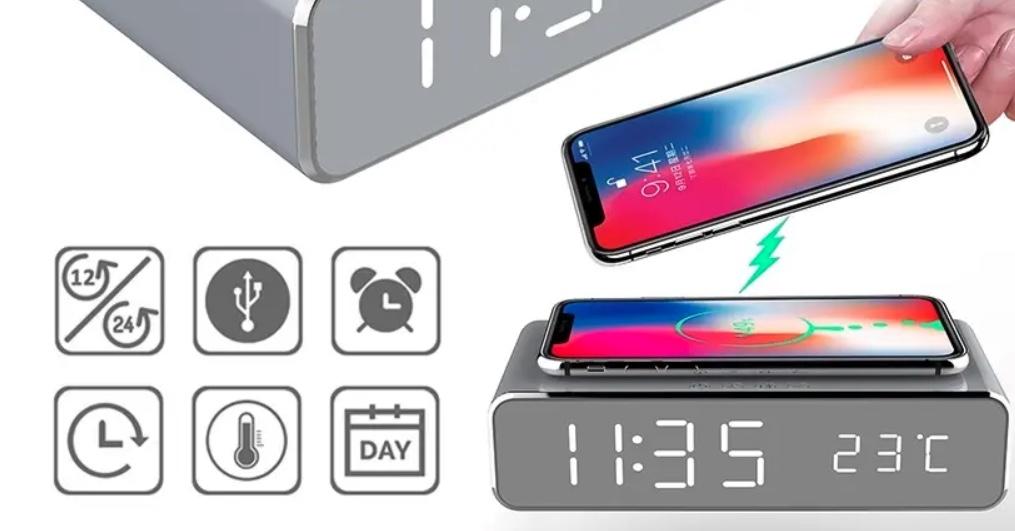 banggood oferece despertador de carregamento sem fio