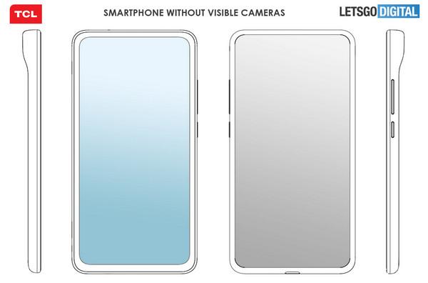 tcl smartphone full screen senza fotocamere brevetto